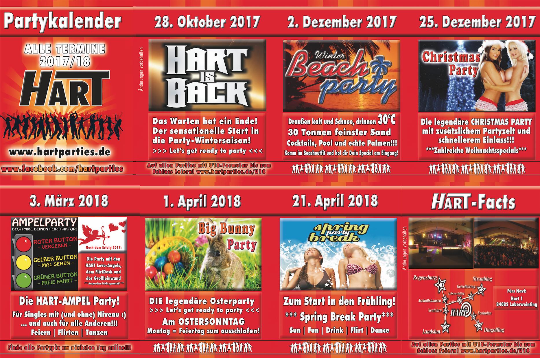 Partykalender 2017-18